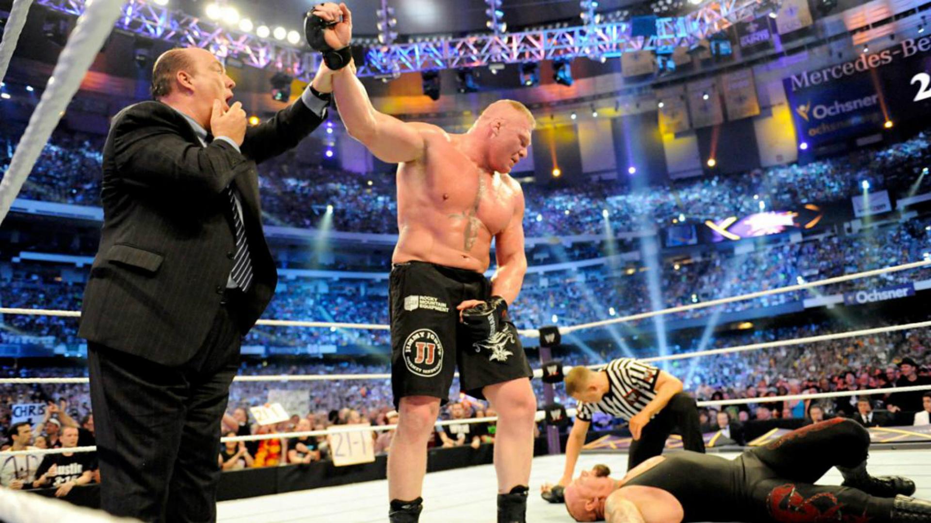 Former UFC Heavyweight Champ Lesnar hands Undertaker first Wrestlemania loss