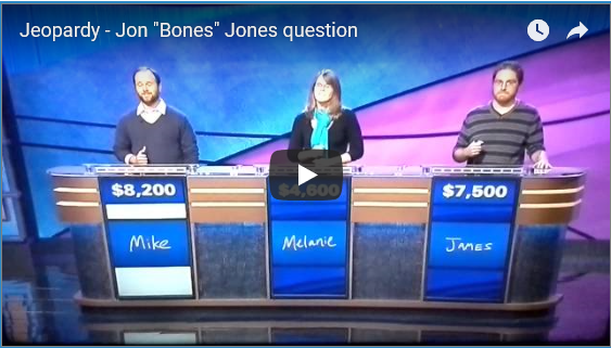 Jon Jones question on Jeopardy