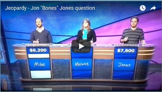 Jon Jones question on Jeopardy