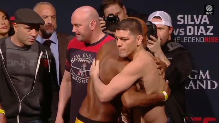 UFC 183 weigh-in results - Diaz & Silva embrace, 2 fighters miss by a LOT