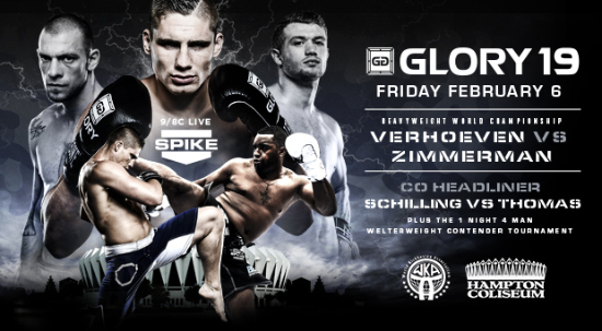 Glory 19 gets co-headline and one-night tournament bouts