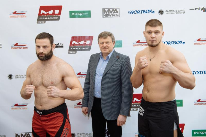 M-1 Challenge 55: Guram Gugenishvili Memorial Show weigh-in results