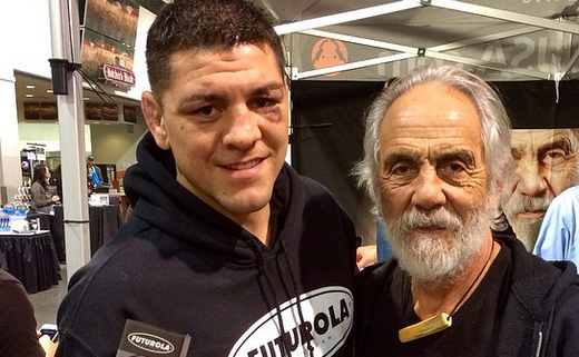 Nick Diaz hangs with Tommy Chong of the famous Cheech & Chong