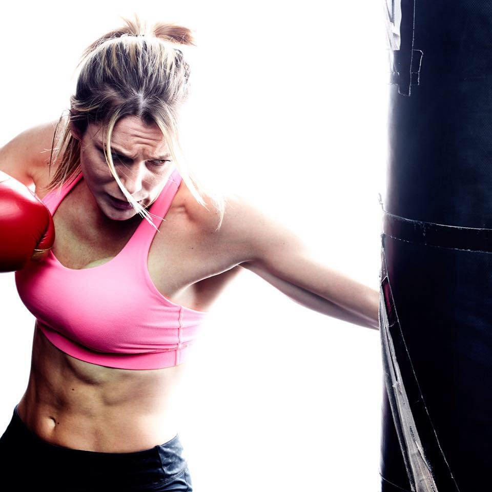 Sarah Thomas of Long Island MMA fights in Golden Gloves boxing bout