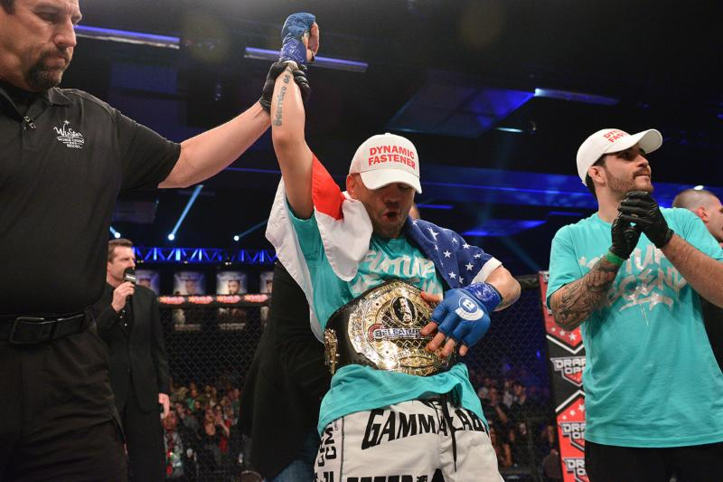 AND NEW!! Marcos Galvao captures Bellator Bantamweight Championship