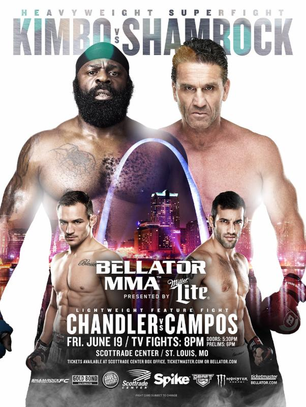 "Two of MMA's biggest superstars clash in St. Louis on June 19, at ""Bellator: Unfinished Business"" with Kimbo Slice vs. Ken Shamrock"