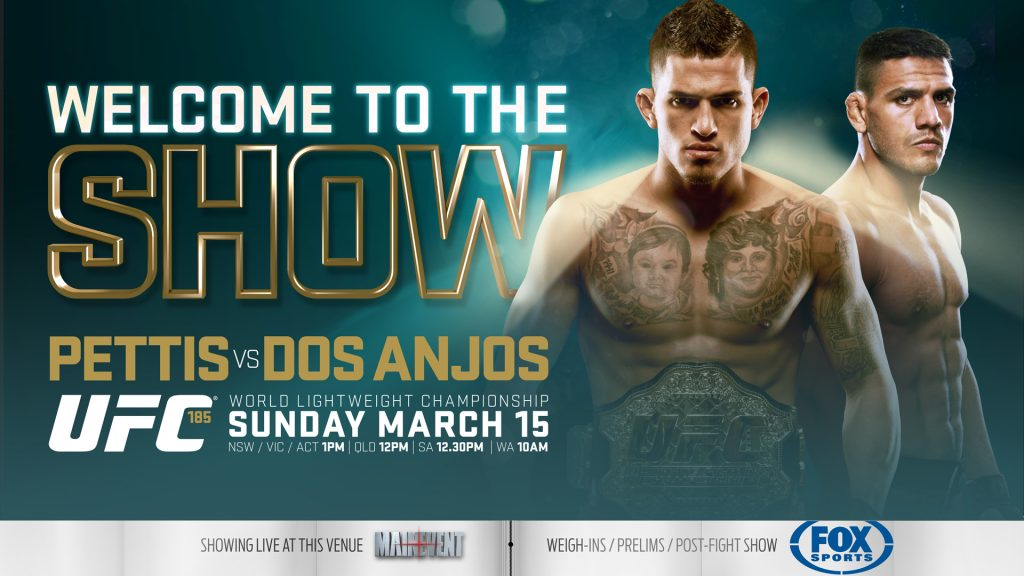 Final card for this Saturday's UFC 185: Pettis vs. Dos Anjos pay-per-view event
