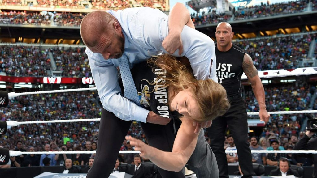 Ronda Rousey lays the smackdown at WrestleMania