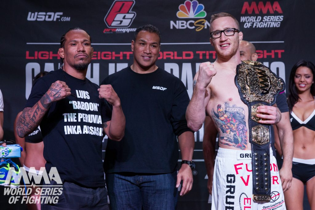 WSOF 19: Gaethje vs. Palomino Weigh-In Results