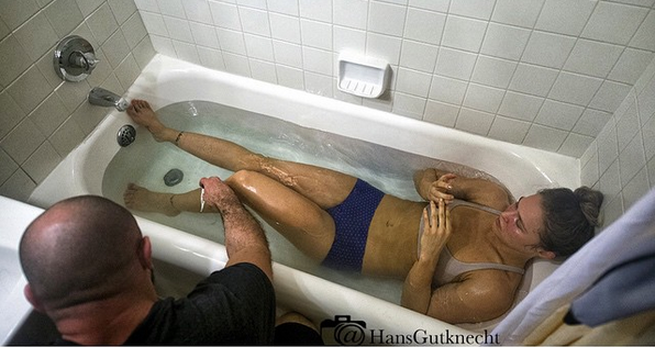 Ronda Rousey in a tub