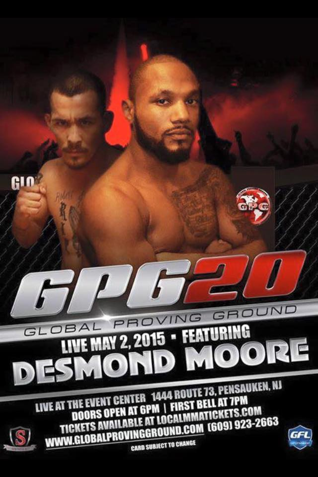"Desmond ""M80"" Moore ready to go 4-0"