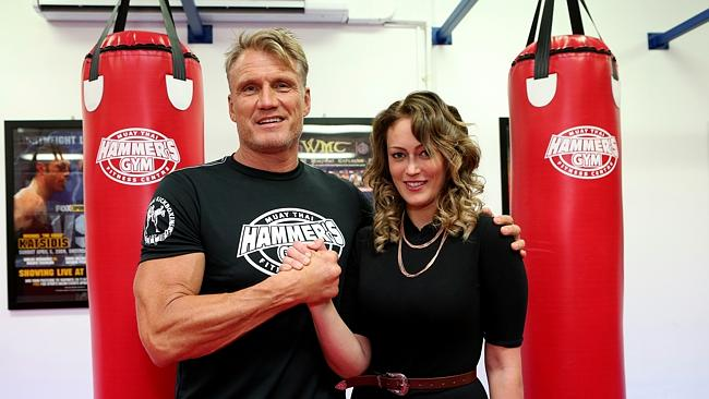 Fighting spirit earns assault victim a lesson with Dolph Lundgren