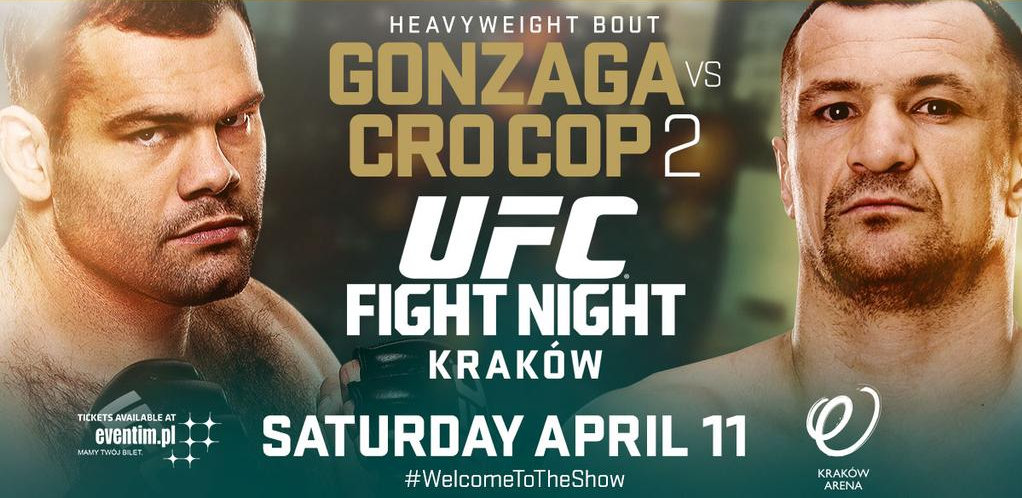 UFC Fight Night 64 weigh-in results - Cro Cop vs Gonzaga 2