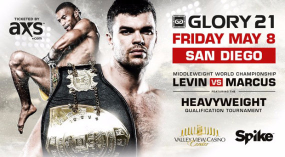 Glory 21 fight card finalized for May 8 in San Diego
