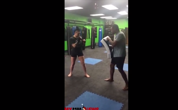 Technique of the Week - Ashlee Evans-Smith - Setup for Spinning Back Kick
