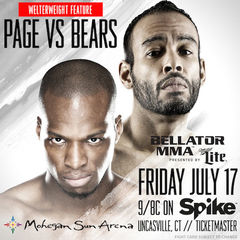 """Welterweight clash pitting undefeated Michael """"Venom"""" Page against Rudy """"Bad News"""" Bears added to """"Bellator MMA: Lima vs. Koreshkov"""""""
