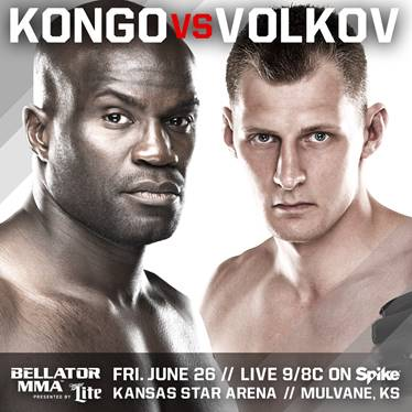 "International knockout artists Cheick Kongo and Alexander Volkov clash on June 26 in headlining bout of ""Bellator MMA: Kongo vs. Volkov"""