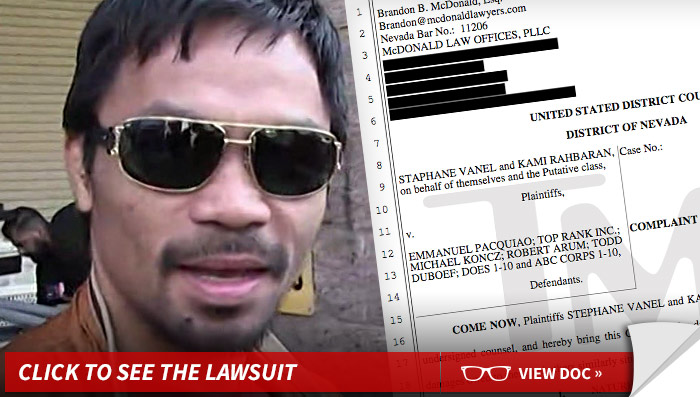 Manny Pacquiao being sued by fans
