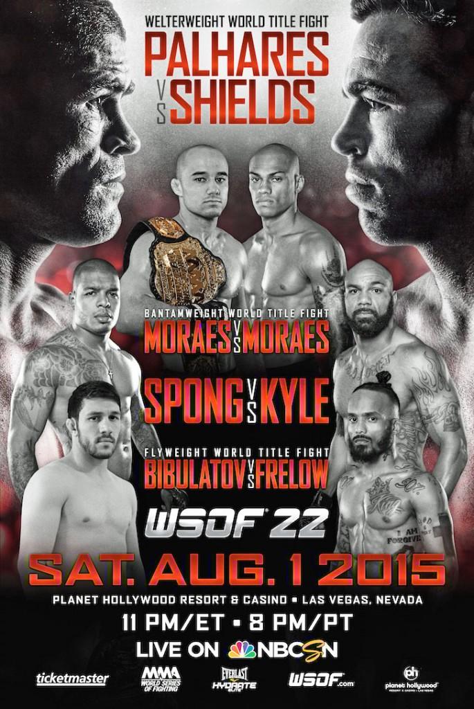 WSOF 22: Palhares vs. Shields Hits Vegas on Aug. 1, Tickets On Sale Fri