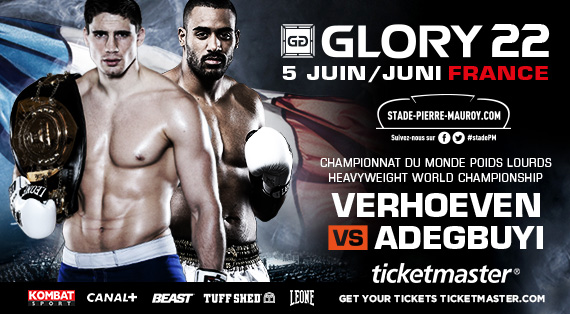 GLORY 22 HEADLINE BOUT ANNOUNCED, TICKETS ON SALE NOW