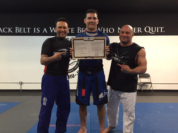 Chris Weidman earns BJJ black belt