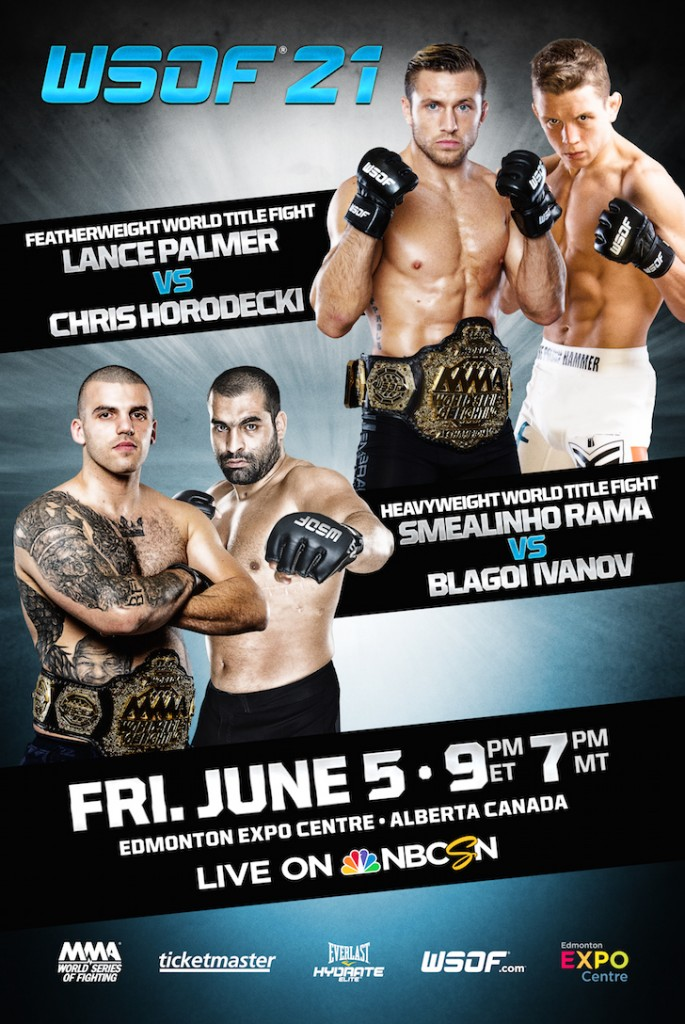 WSOF 21: Palmer vs. Horodecki Adds Six Prelim Bouts