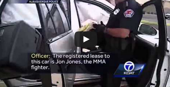 POLICE VIDEO:  Jon Jones incident, Cops find condoms and pipe
