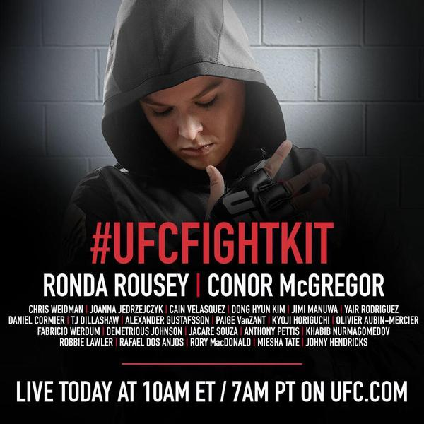 UFC Fight Kit press conference