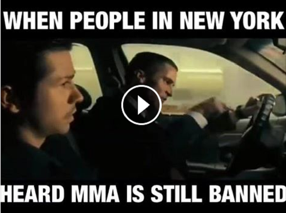 When people in New York found out MMA still banned