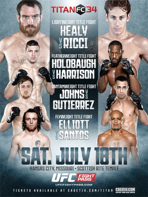 Titan FC 34 full fight card revealed