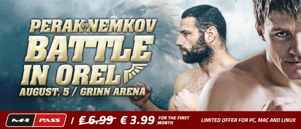 Perak vs Nemkov to headline M-1 Challenge 60 Aug. 5 in Orel, Russia