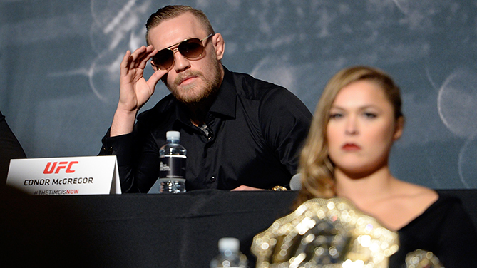 Conor McGregor: Ronda Rousey 'would throw me on my head in one second'