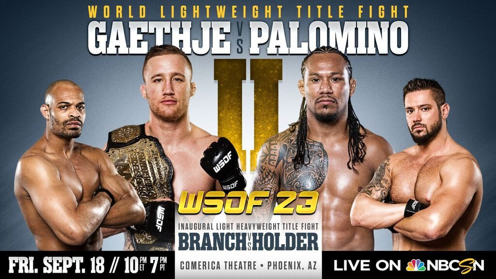 WSOF 23: Gaethje vs. Palomino II Hits Phoenix on Sept. 18