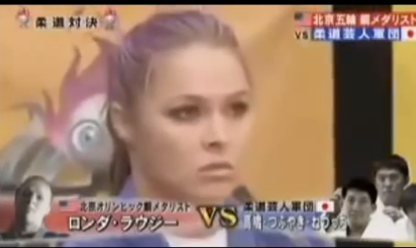 Throwback – Ronda Rousey destroys 3 guys on Japanese game show