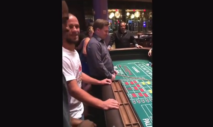 UFC Fighter Lorenz Larkin Bets $1000 on craps dice roll of Cody Bollinger