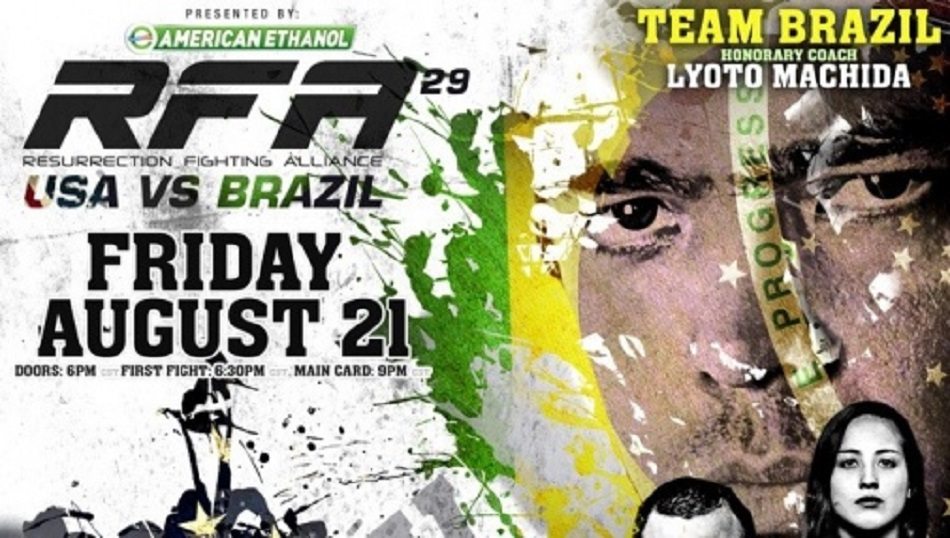 Fight Network Presents RFA 29: USA vs. Brazil LIVE this Friday, Aug. 21 at 10 p.m. ET