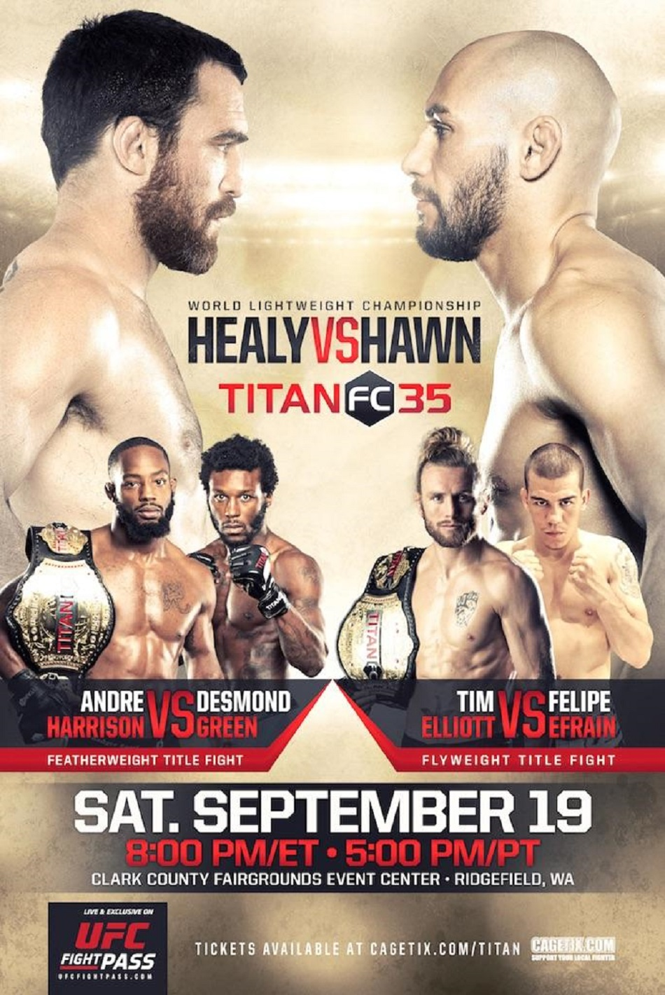 Titan FC 35 fight card revealed