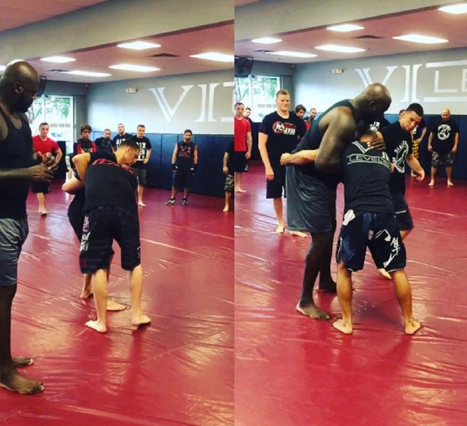 Shaq training MMA with Nate Diaz