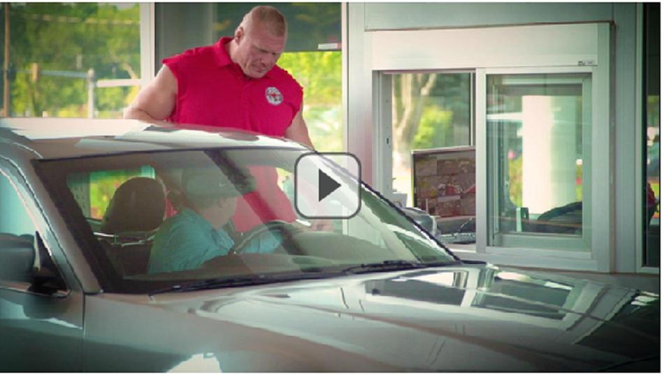 VIDEO: Brock Lesnar poses as ESPN Security Guard
