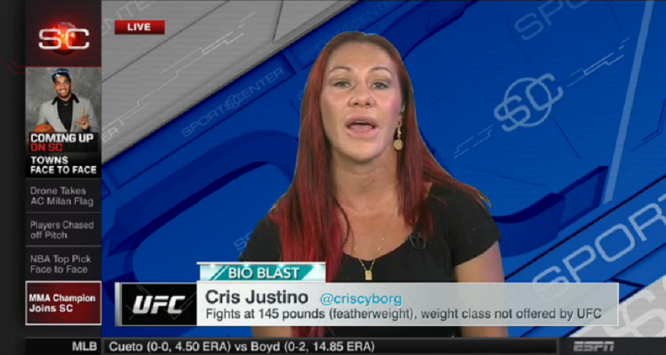 Cyborg on ESPN Sportscenter: The Fans Deserve This Fight (Rousey)