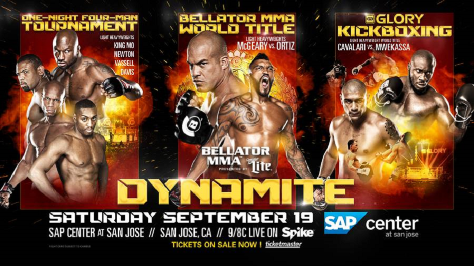 Bellator announces a Glory light heavyweight title fight joining Dynamite event on September 19