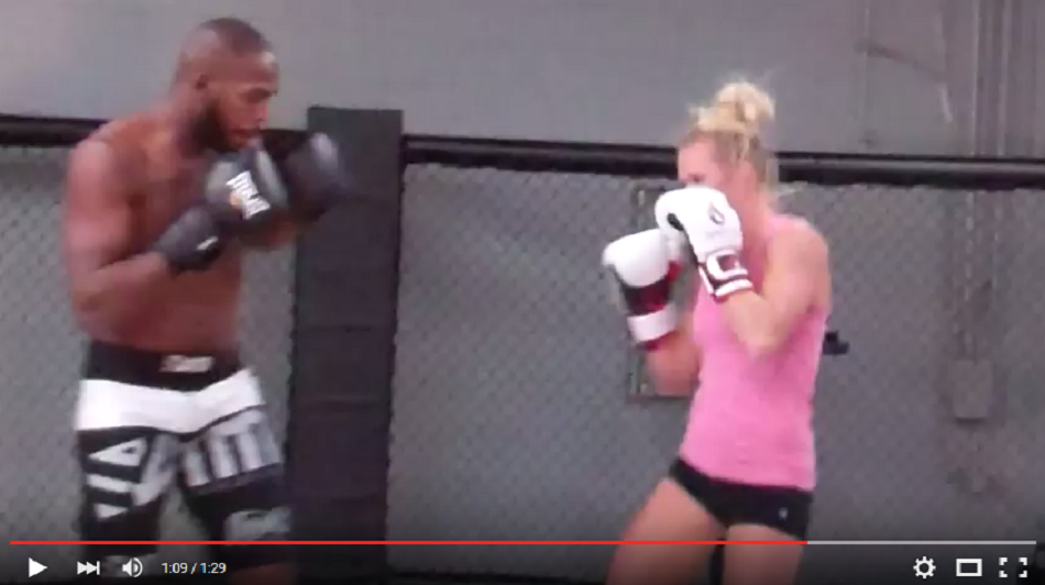 Video circa 2011 – Holy Holm sparring with Jon Jones