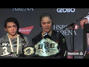Ronda Rousey and Claudia Gadelha