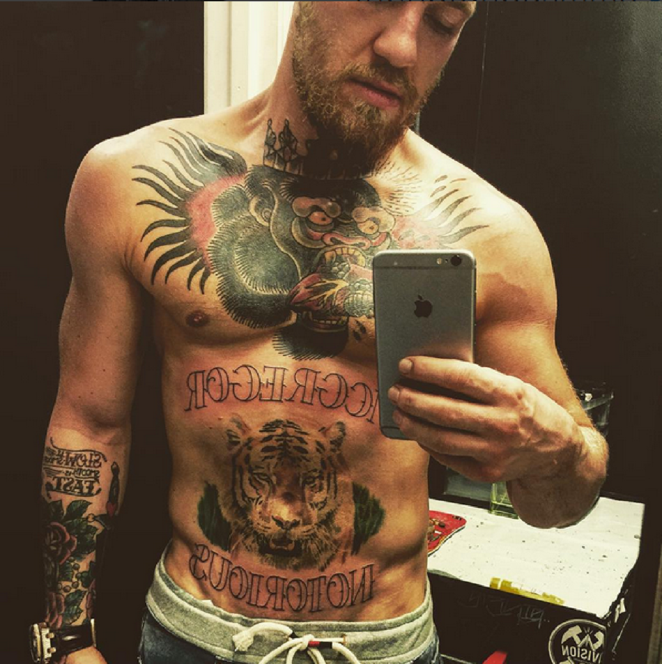 Conor McGregor adds to his tattoo collection