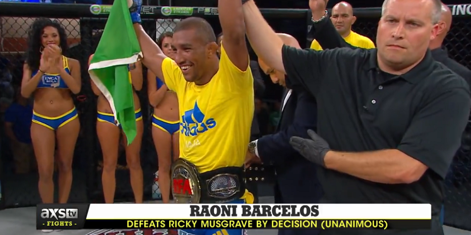 RFA 29 results, Raoni Barcelos claims vacant title