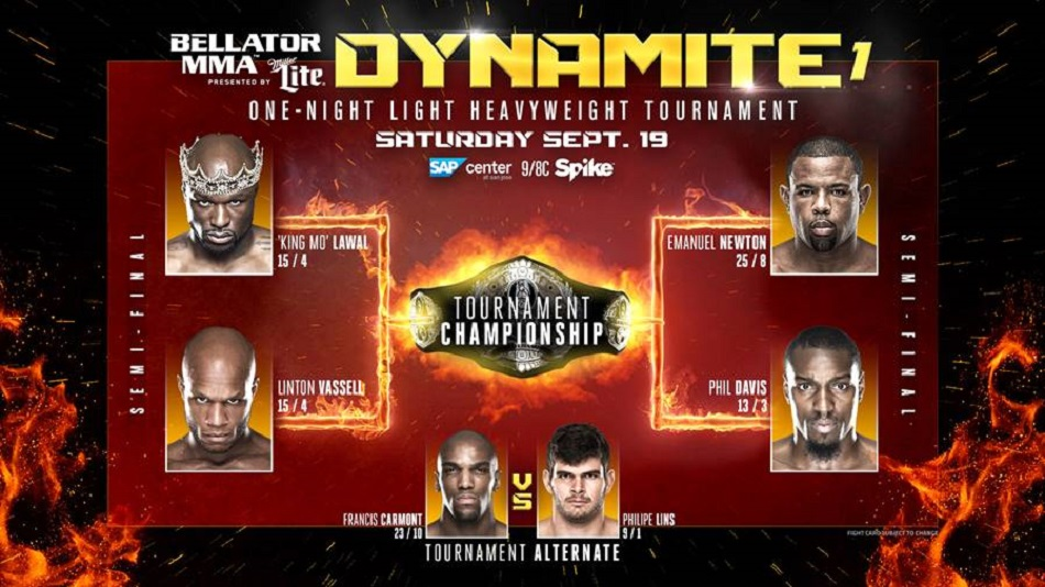 Bellator MMA Announces Semi-Final Pairings for Light Heavyweight Tournament at 'Dynamite 1'