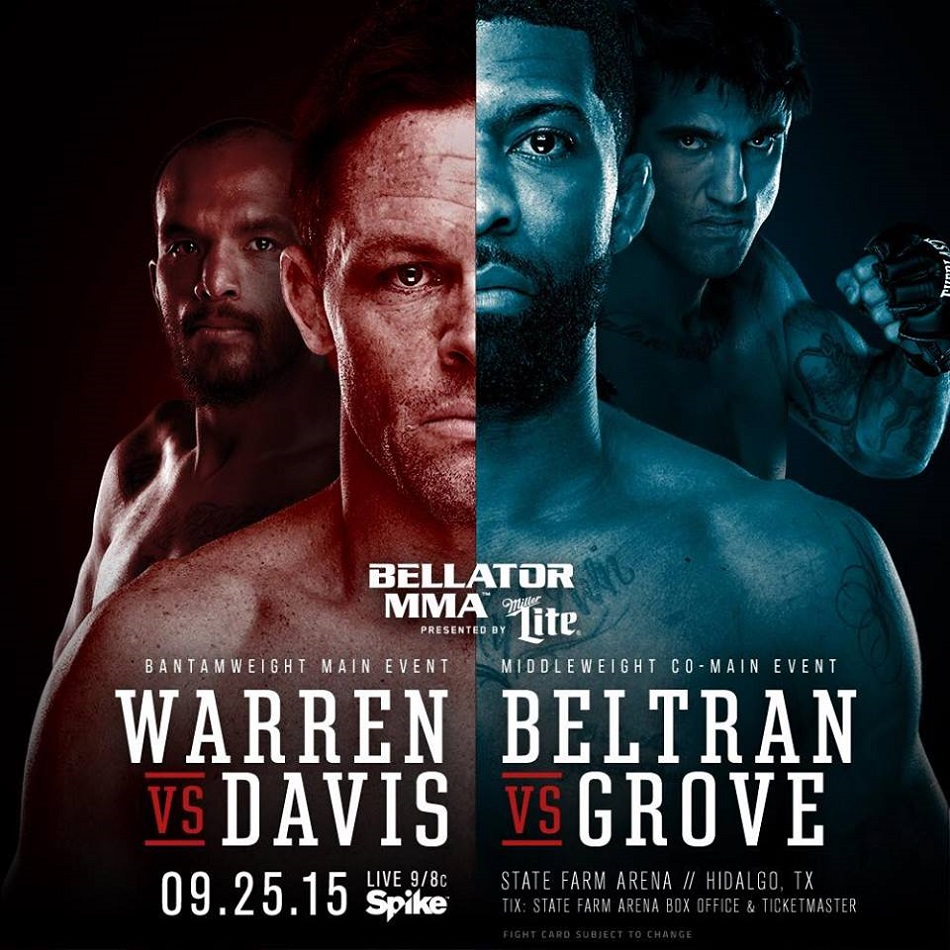 "LIVE Stream for ""Bellator 143: Warren vs. Davis"" weigh-ins (8:00 pm EST)"
