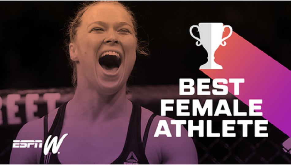 Rousey Voted Best Female Athlete Ever