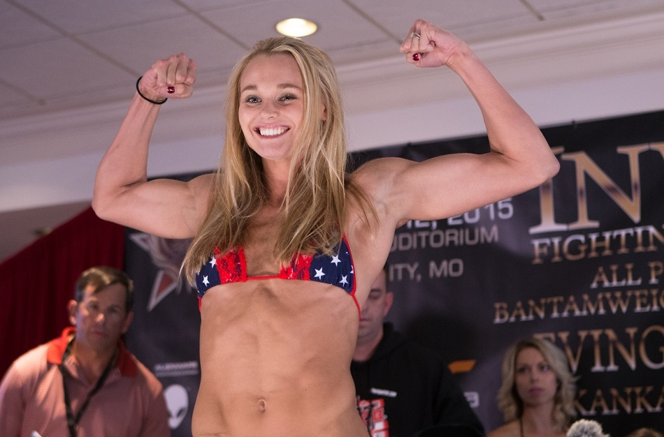 Andrea Lee, Invicta FC 14 Weigh-In Photos