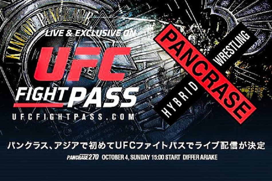 Pancrase to be streamed live on UFC Fight Pass